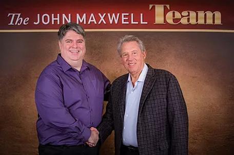 Harlan with John Maxwell