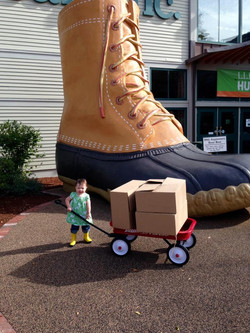 First Delivery to 1912 at LL Bean