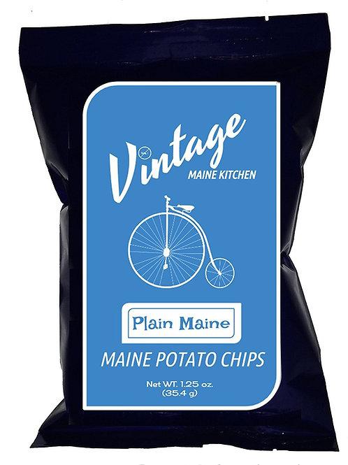 Plaine Maine Vintage Chips, Salt Free Snack, Maine Made