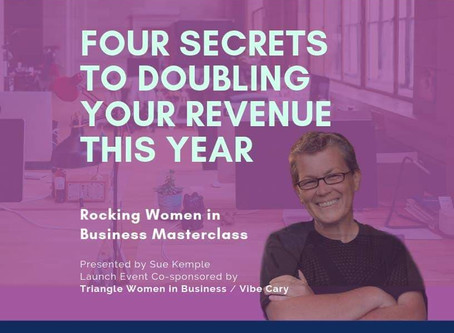 First Triangle Women in Business Quarterly Marketing Masterclass with Sue Kemple