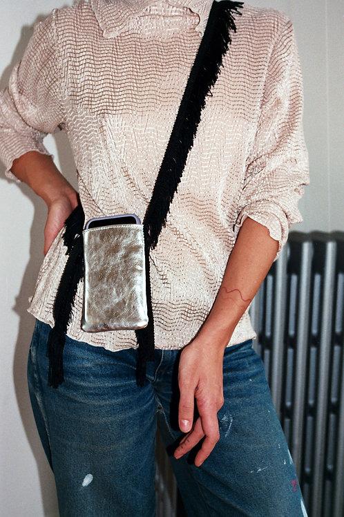 Silver Eyelash Tiny bag