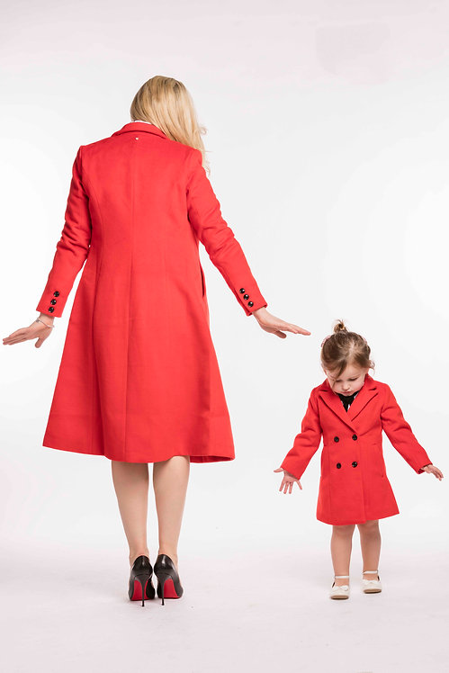 Child Matching Red Coat