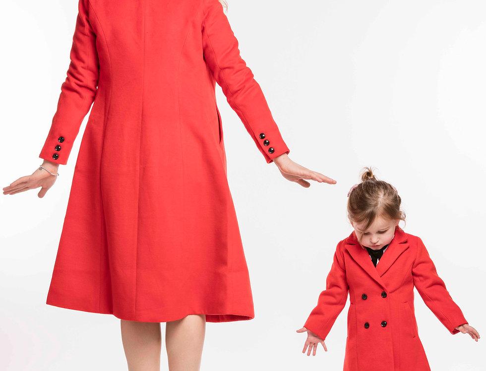 Child Matching Red Coat