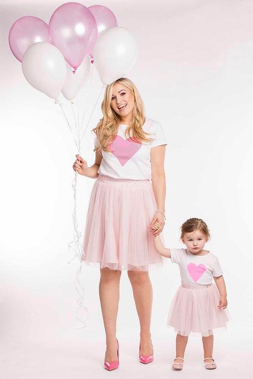 Pink Heart & Mini Pink Heart T-Shirts