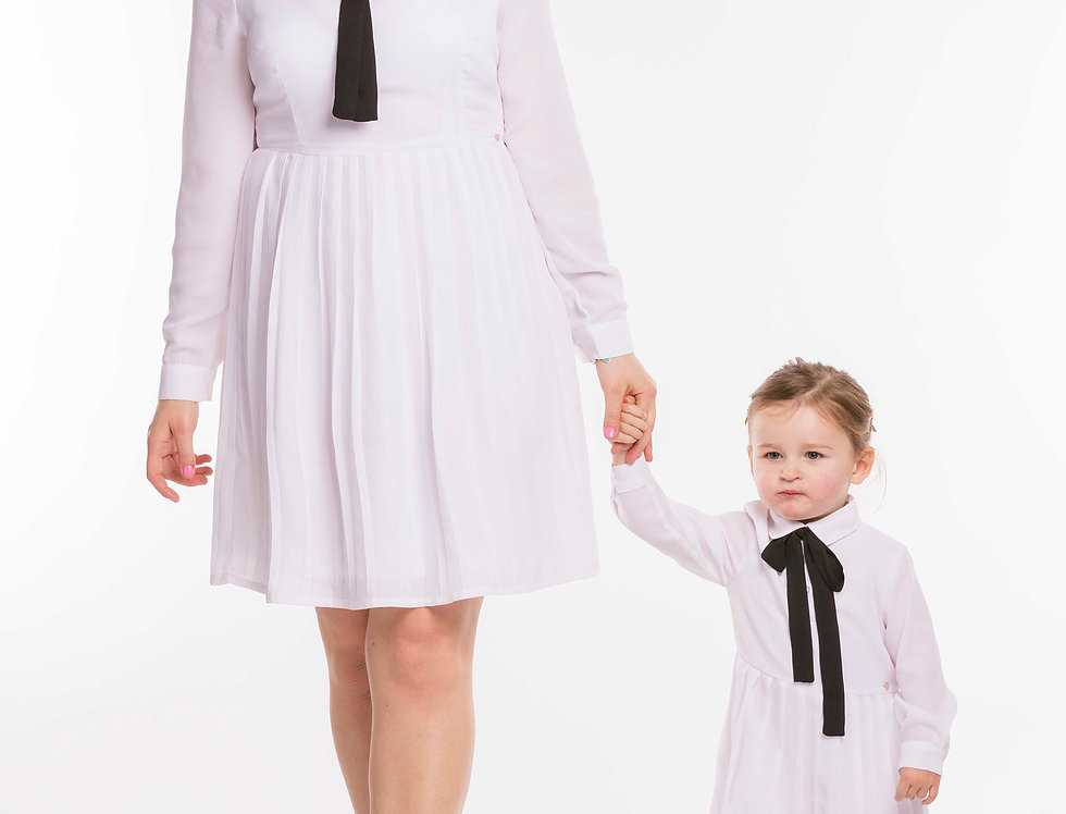 White Dress & Little White Dress Set