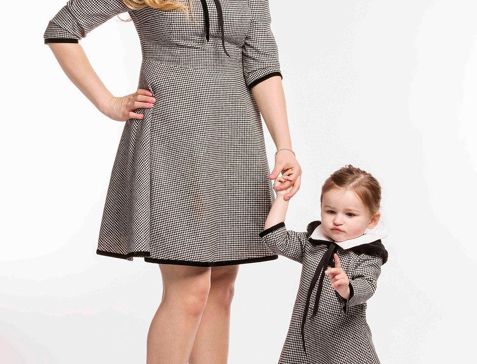 Women's Houndstooth Design Dress