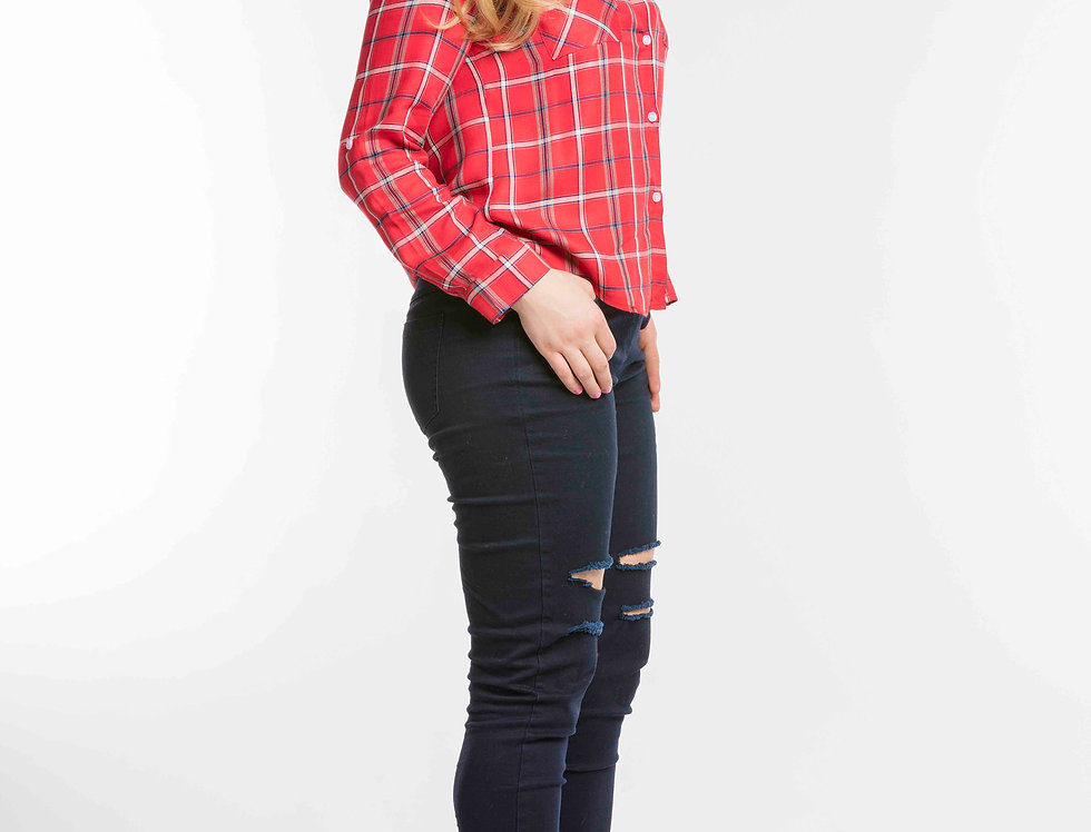 Women's Red Checked Shirt