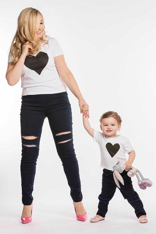 Black Heart & Mini Black Heart T-Shirts Set