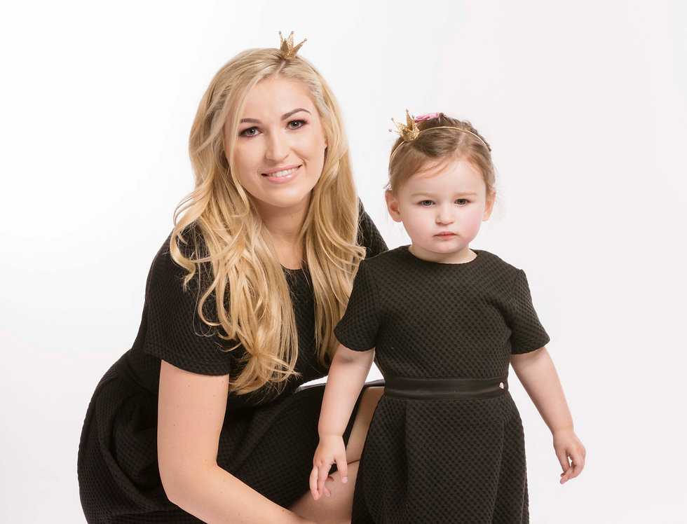 Black Dress & Little Black Dress Matching Dresses Set