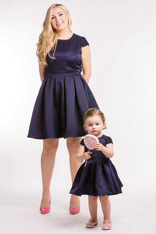 Luna & Shadow Navy Matching Dresses