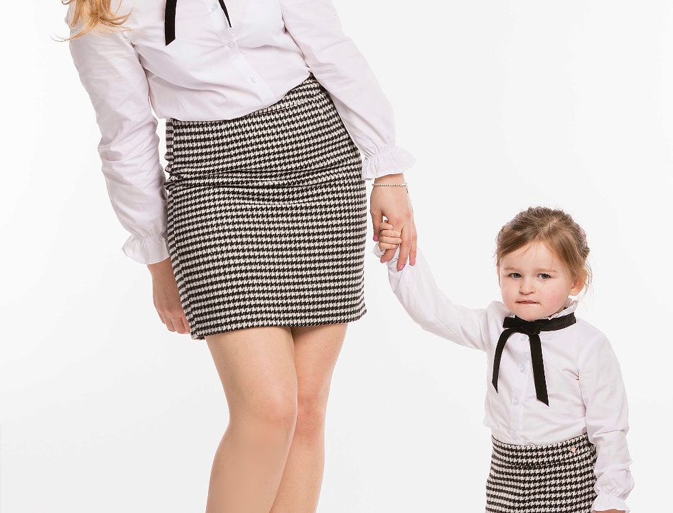 Houndstooth & Puppystooth Matching Skirts Set