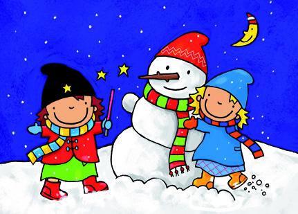 Kerstkaart Mimi tovert sneeuw (10)