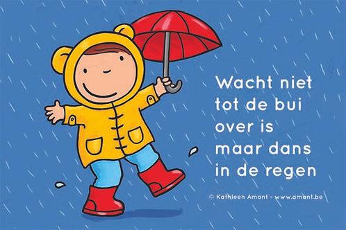 Spandoek 'Dansen in de regen'