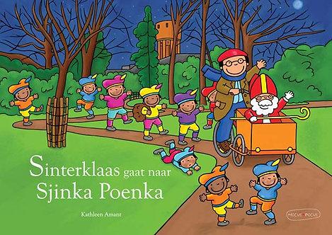 Vertelplaten + boek Sinterklaas gaat naar Sjinka Poenk