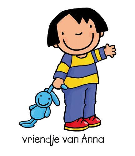 Strijkapplicatie 'Anna en konijn'