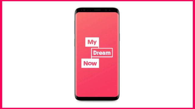 My Dream Now-appen för ungdomar