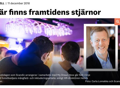 11 dec 2018, Besöksliv har skrivit ett reportage om hotelldagen med Scandic