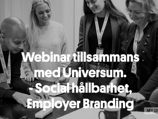 Webinar: Social hållbarhet - så stärker ni ert Employer Brand.