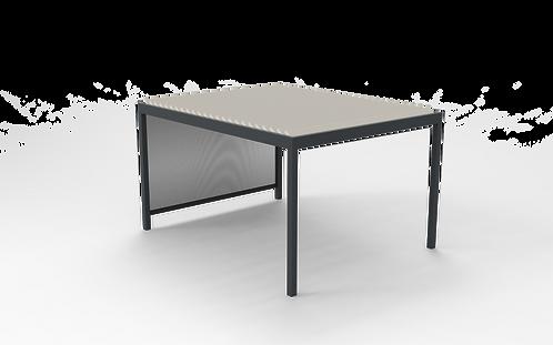 Lamellendach TECHNIC | 501,9 cm x 400 cm | Screen rechts oder links