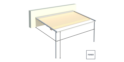 Faltdach / Pergola-Markise SIMPLE | 400 cm x 300 cm