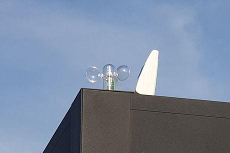 Lamellendach Pergola Sonnenschutz freistehend mit Wettersensoren