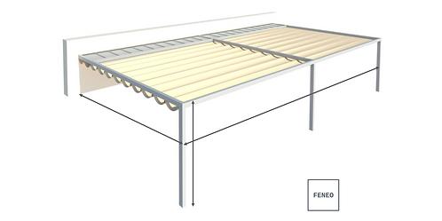 Faltdach / Textildach FLAT | 500 cm x 400 cm
