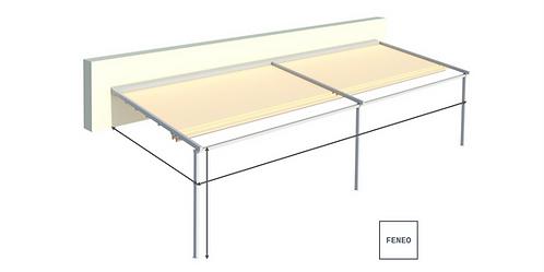 Faltdach / Pergola-Markise SIMPLE | 600 cm x 400 cm