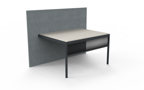Lamellendach TECHNIC | 401,9 cm x 300 cm | Screen vorne