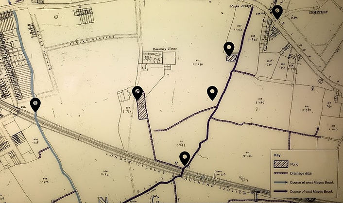 Eastbury Maor House map 1919