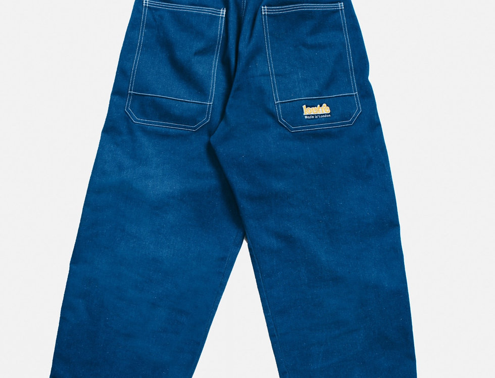 Blue Oversized Organic Denim Pants