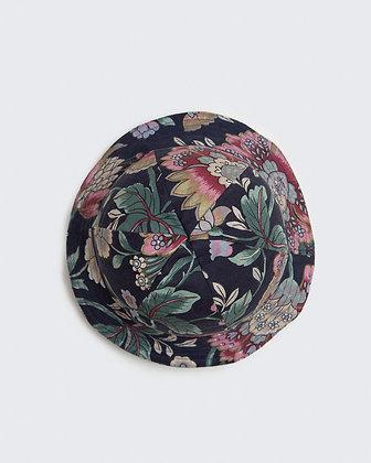 Curtain Offcuts Hat - Midnight Flowers