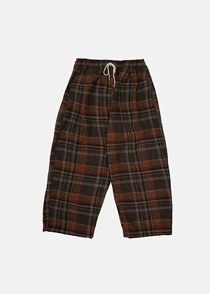 Pecan Checked Wool Pants