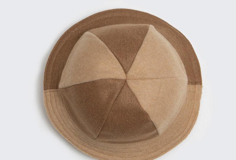 British Wool Offcuts Hat - Brown
