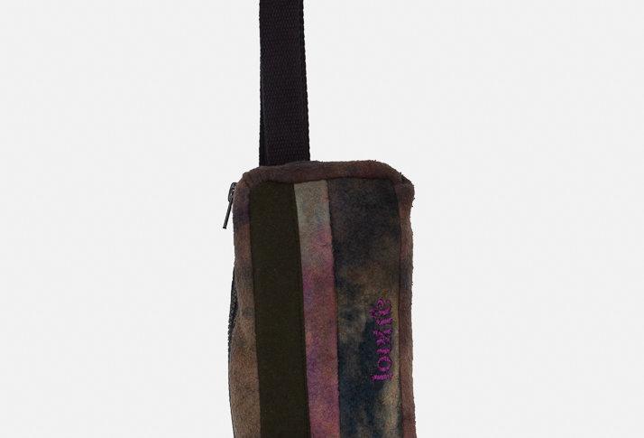 SHOULDER BAG - PURPLE FLEECE