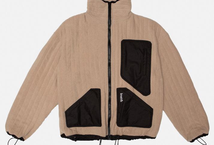 Caramel Quilted Blanket Jacket