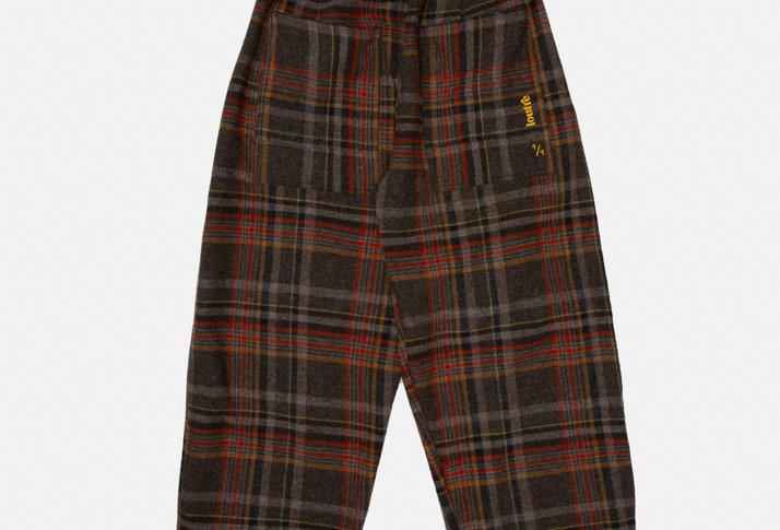 Pecan Checked Wool Pants