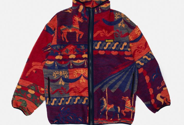 Reversible Fleece Blanket Jacket
