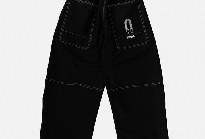 Black Rainbow Oversized Cotton Pants