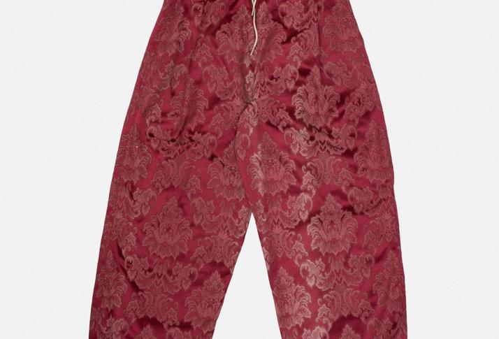 Royal Red Curtain Pants