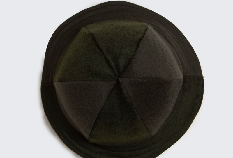 British Wool Offcuts Hat - Moss