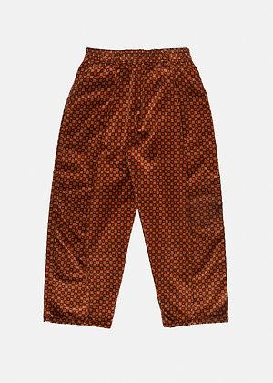 VELVET PANTS - RED CHECK