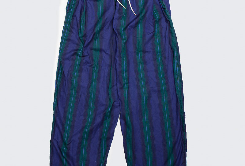 Upcycled Curtain Pants - Blue