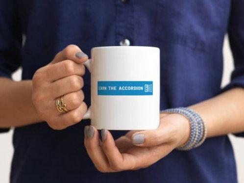 Learn the accordion mug