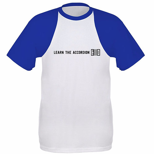 Learn the Accordion Baseball T Shirt