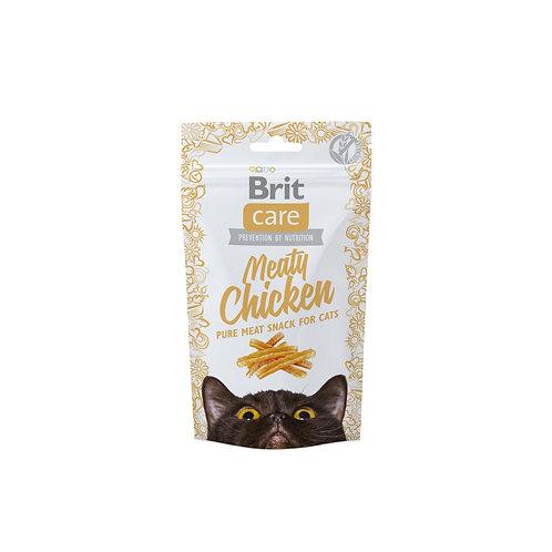Brit care cat snack meaty chicken 50gr