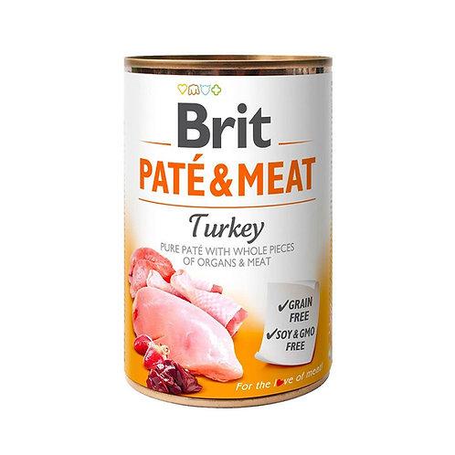 Lata Brit Pate & Meat Turkey 400gr