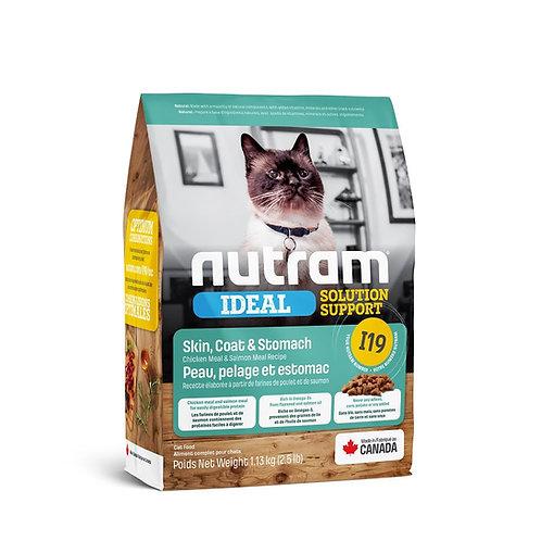 NEW I19 NUTRAM IDEAL SENSITIVE SKIN COAT & STOMACH CAT 1.13 KG