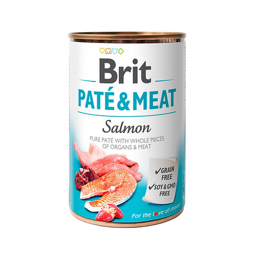 Lata Brit Pate & Meat Salmon 400gr