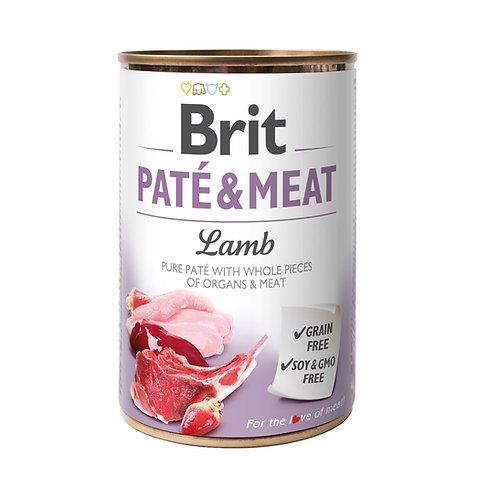 Lata Brit Pate & Meat Lamb 400gr