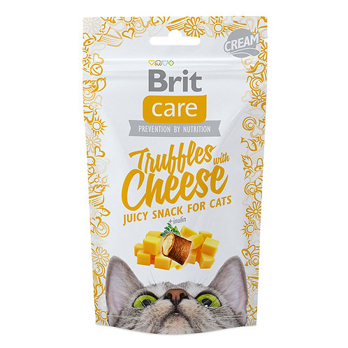 Brit care cat snack truffles cheese 50gr